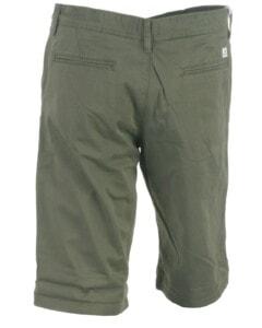 Armygrønne chino shorts fra Jack & Jones JR set bagfra, model Bowie 12172213 - køb på umame.dk