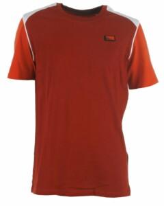 Rustrød t-shirt med korte ærmer i orange fra Jack & Jones, model 12186459 Carling - køb på umame.dk