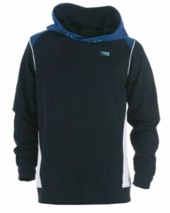 Navyblå sweatshirt med blå hætte fra Jack & Jones JR, model 12186464 Carling - køb på umame.dk