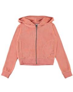 Molo velour zip hoodie