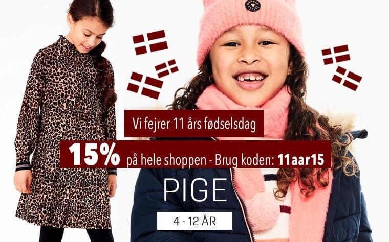 15% på alt Pigetøj 4 -12 år - Alt i vinterjakker og tøj til piger hos umame.dk